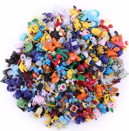 Figures Australia - 144pcs 72pcs Pikachu Action Figure Kids Toys For Children Birthday Christmas Gifts 2-3 Mini Animetoy Figures For Children Y190604