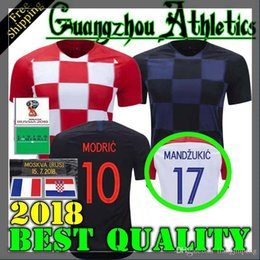 bbbeeccca02 2018 World cup Designed for CroATia home Soccer Jersey MODRIC PERISIC  RAKITIC MANDZUKIC SRNA KOVACIC Red KALINIC Hrvatska Football Shirt