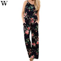 Wholesale Women Bodysuit Australia - Womail bodysuit Women Summer Fashion Casual Boho Ladies Printing Sleeveless Long Playsuits Rompers Jumpsuit NEW S-L3 dropship M6