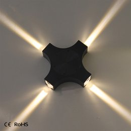 modern ip65 43w led wall light four side bright new design up and down outdoor led light 1pc