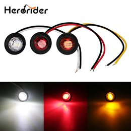 turn lights round Canada - 10 pcs 12V LED Side Marker Turn Signal Light Clearance Indicator Bezel Lamp Truck Trailer Caravan Round Amber Red White lights