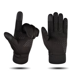 $enCountryForm.capitalKeyWord Australia - Best Design Men's Outdoor Sport and Motorcycle Driving Gloves Prefect Black Keep Warm Gloves for Gift