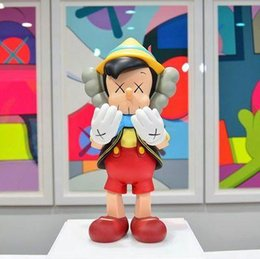 action figure stands NZ - Large 45CM 1.5KG Originalfake KAWS Companion One kinds of standing style for Original Box KAWS Action Figure model decorations toys gift