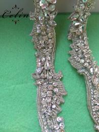 Beaded Belts For Wedding Dresses Australia - Silver Rose gold Wedding Rhinestone Applique Trim Crystal Beaded Accessories for Wedding Dress Bridal Belt Headpiece Bags