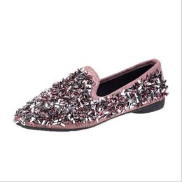 Decorating Flats NZ - Korean Fashion Pointed Sequins Bow Decorated Flat Shoes Comfortable Shallow Mouth Single Shoes With The Style of Women's