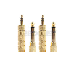 Foil Connector Australia - 2 Pair DC 3.5mm to 6.35mm Adapter FM&MF Plug Connector Gold-Plated Jack for Phone PC Microphone