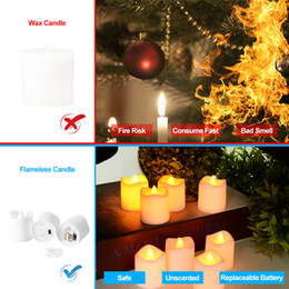 $enCountryForm.capitalKeyWord Australia - Candle Shape Lights Flameless LED Tea Lights Set High Quality Battery Powered Candle Lights Party Wedding Decoration 24 Pcs