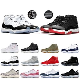 Discount womens rubbers - Concord 45 mens basketball shoes 11 11s cap and gown bred platinum tint space jams win like 96 XI mens womens Designer s