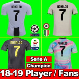 TOP 2018 RONALDO Juventus 2019 player version Champion league soccer jersey  DYBALA 18 19 EA Sports football kit shirt calcio maglia uomo caf239c5b