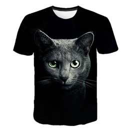 tee 3d Australia - New Animal 3D T Shirt Lovely Kitten Cat Funny Tops Tee Short Sleeve Summer T-Shirt Men Women Kids Casual Children Cool Shirts