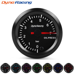 "car oil pressure gauges Canada - Dynoracing 2"" 52mm 7 Colors LED Car Oil Pressure Gauge 0-7 BAR Oil Press Meter High Speed Motor With Sensor BX101733"