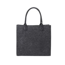$enCountryForm.capitalKeyWord NZ - Felt Shopping Shoulder Storage Hand Bag Handbag Shopper Tote Bags Environment Friendly Bag For Women Ladies Purse Handbags Pouch