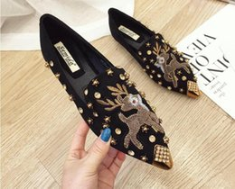 Cotton Cherry Australia - Woman Flats Shoes Rhinestone Cherry 2019 Spring New Female Metal Pointed Toe Casaul Shoes Comfortable Flats Loafers Shoes
