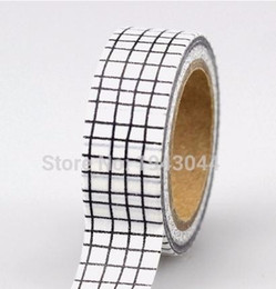 white adhesive tape Australia - 2019 1pc Black and White Washi Tape Paper DIY Planner Adhesive Tapes Stickers Decorative Stationery Tapes
