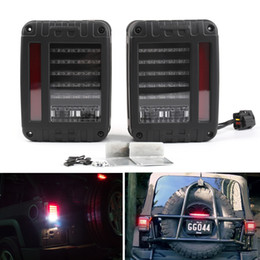 Wholesale jeeps parts resale online - Areyourshop Pair LED Tail Lights Rear Brake Reverse Lamps For Jeep Wrangler JK US Model Tail Lights Lamp Car Parts