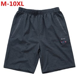 mens shorts 7xl NZ - Newplus Size 9xl 8xl 7xl 6xl 5xl 4xl Newest Summer Casual Shorts Men Cotton Fashion Style Mens Shorts Bermuda Beach Black Shorts Y19050501