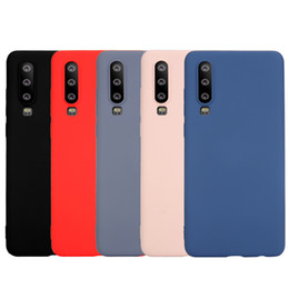 Case Huawei Lite Australia - Frosted Soft Liquid Silicone Cover Case For Huawei P20 P30 Lite Pro Mate 20 Nova 3 3i 4 4e Honor 8X View 20 Y9 2019