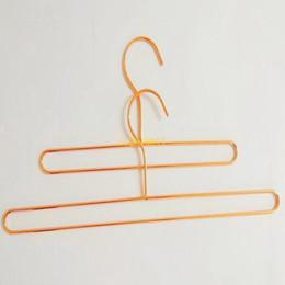 100 pcs estilo nórdico fio de ferro cabide de metal cabide de ouro rosa crianças bebê toalha de banho meias cabides de armazenamento de roupas rack em Promoção