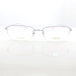 f38545609414 Pure Titanium for Diamond Business Men Reading Half Frame Glasses Reading  Clear Eye Lens male Spectacle Eyewear Accessories