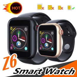 $enCountryForm.capitalKeyWord Australia - New Released Z6 Smartwatch For Iphone Smart Watch Bluetooth 3.0 Watches With Camera Supports SIM TF Card For Android Smart Phone