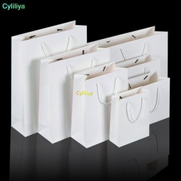 $enCountryForm.capitalKeyWord Australia - Fast Shipping White kraft paper bag with handle Wedding Party Favor Paper Gift Bags print customize logo