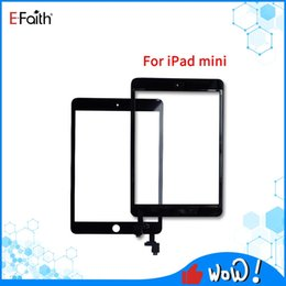 ipad mini home button flex cable 2020 - Black And White Touch screen For iPad mini 1 2 Touch Digitizer Screen Assembly +IC + home button Flex Cable + adhesive s