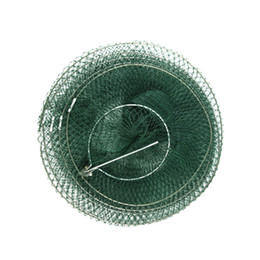 cage folding UK - Fishing Net Green Durable Folding Fishnet Shrimp Cage Crawfish Fish Line Waterproof Quick Dry Practical Steel Wire Movement