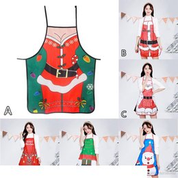 christmas aprons funny Australia - 500PCS Santa Claus Apron Personality Novelty Ornament Kitchen Home Christmas Apron personality funny novelty gift Kitchen products