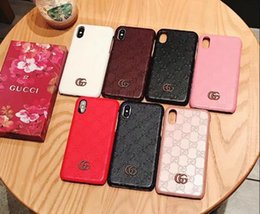 94639a234ef6 Luxury Brand Phone Case for iPhone 6 6s 7 8 Plus Leather Best Pattern Print  Designer Phone Case for iPhone X Xs Max XR 8 Plus Cover