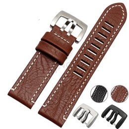 a96082a95e1 Needles Black NZ - Genuine Leather Watch Strap Band 23mm Men New Black  Brown Watchband Belt