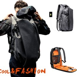 "large capacity backpack Australia - Fashion Men Backpack For Laptop 17.3""usb Port Waterproof Travel Backpack Large Capacity College Student School Backpack"