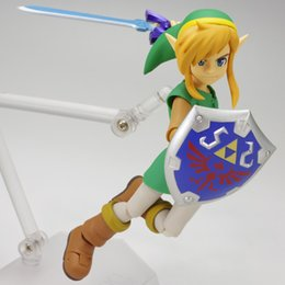 Legend Zelda Figures Australia - NEW hot 14cm The Legend of Zelda link movable Action figure toys doll collection Christmas gift with box 2.0
