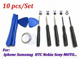 mobile tools kit Canada - 1000set Universal New 10 in 1 mobile phone Opening Pry Repair Screwdrivers Tools Kit Set For iphone samsung LG HTC nokia