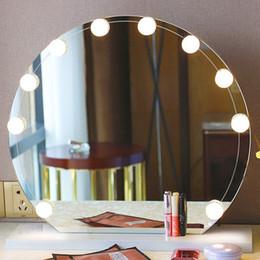 $enCountryForm.capitalKeyWord Australia - Bulb Vanity Makeup Mirror Cold Light LED Vanity Mirror Lamp Kit Lens Headlight Hollywood Style Dresser Lamp Accessory ZJ0405