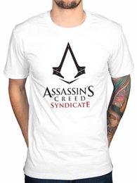 $enCountryForm.capitalKeyWord Australia - Official Assassins Creed Syndikittene Logo T-Shirt Chronicle Rogue Unity Identity Tees Men'S Clothing Big Size:S-3xl T Shirt