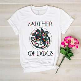 lovers gift flower NZ - 2019 New Arrival dog lovers tshirt mother of dogs t-shirt mom dogs gift flowers print top tee