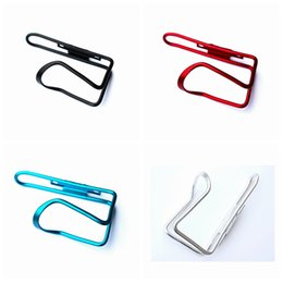 CyCling bottle Cages online shopping - Aluminum Alloy Bicycle Bottle Holder Cycling Drink Water Bottle Holder Mountain Road Bike Water Bottle Holder Cages Rack Mount LJJZ193