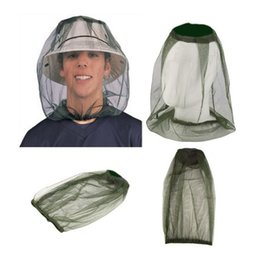 Camping hiking hats online shopping - Outdoor Hiking Mosquito Net Cap Camping Travel Set Head Insect Proof Caps Blackish Green Simple Fashion Fishing Hat ynD1
