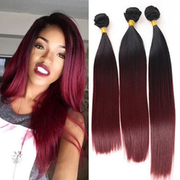 Wine curtains online shopping - 8 Inch Gradient Black Wine Red Straight Natural High Temperature Hair Curtain Silk Long Straight Heat Resistant Wig