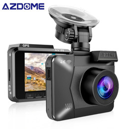 Toptan satış AZDOME M06 WiFi Çift Lens Dahili GPS FHD 1080 P Ön + VGA Arka Kamera Araba DVR Kaydedici 4 K Çizgi Kam Dashcam WDR Gece Görüş