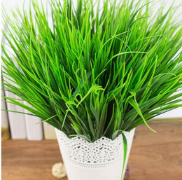 Green Plastic Grass Plant Australia - Green Grass Artificial Plants Plastic Flowers Household Wedding Spring Summer Living Room Decoration
