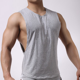 Low cut vest men online shopping - New Summer Men Low Cut Sport T shirt Loose Sleeveless Shirt Tops Men s Breathable Vest Home Sleepwear Fitness Running Sportswear