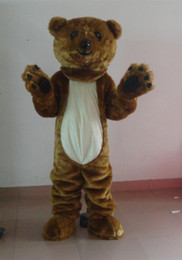 $enCountryForm.capitalKeyWord NZ - Professional custom Dark Brown Bear Mascot Costume Character Fursuit Mascot Clothes Christmas Halloween Party Fancy Dress