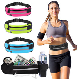 running cycling sport waist pack Australia - Free DHL Women Men Travel Fanny pack Waist Pocket Jogging Sports Portable Waterproof Cycling Outdoor Phone Pack Belt Sports Running Bags M6Y