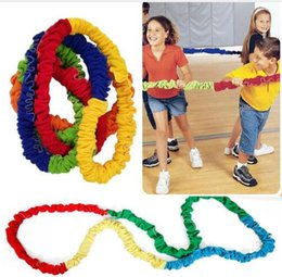 Golf Game Toy Australia - Team Cooperation Work Develop Outdoor Sport Toy Elasticity Rope Circle Southeast Northwest Running Push Game Sensory Integration 2M to 5M