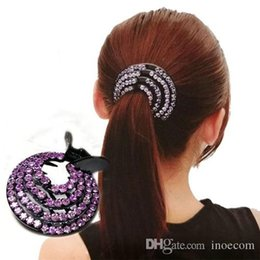 $enCountryForm.capitalKeyWord Australia - Fashion Crystal Ponytail Holder Rhinestone hair Crab Donut Bud Women's Hairstyles Hair Claws Girls Bird Nest Updo Hair Grips