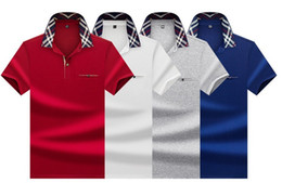 working t shirt Canada - 2020 designer luxury men's short-sleeved summer new fashion trend work POLO shirt loose loose lapel pullover T-shirt 4 colors size M-3xL-4