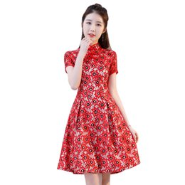 a466e69bfb1cf Lace New Chinese Traditional Women Qipao Vintage Oriental Female Cheongsam  Novelty Chinese Formal Dress Size M L XL XXL 3XL