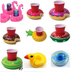 inflatable pools sale Australia - colorful new hot sale Cup Float Flamingo Cup Holder Coasters Inflatable Drink Holder for Swimming Pool Air Mattresses for Cup Party