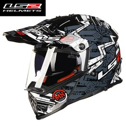 $enCountryForm.capitalKeyWord NZ - LS2 mx436 mens motocross helmet dual lens Racing motorcycle helmets off road full face motorbike helmet ECE Approved